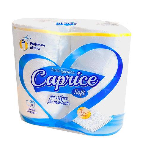 CARTA IGIENICA CAPRICE SOFT 3 VELI 4 ROTOLI