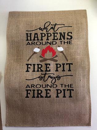 Fire Pit Garden Flag