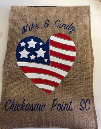 American Heart Garden Flag