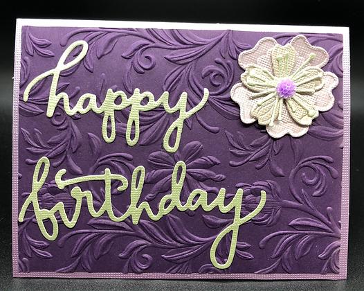 Happy Birthday in Purple Card Kit