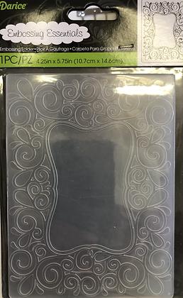 Scroll Frame Embossing Folder