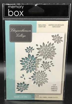 Chrysanthemum Collage Die