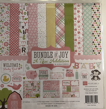 Bundle of Joy - Baby Girl 12x12 Collection Kit