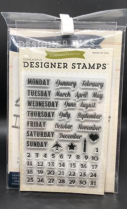Calendar Die and Stamp Set