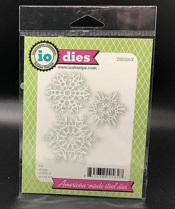 Three Snowflakes Die Set