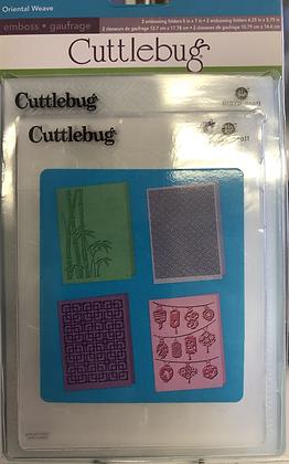 Oriental Weave Embossing Folders, Set of 4