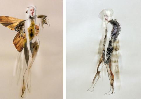 Flora & Winni dance costume designs