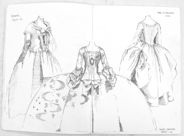 18th C. Women's dresses (V&A)