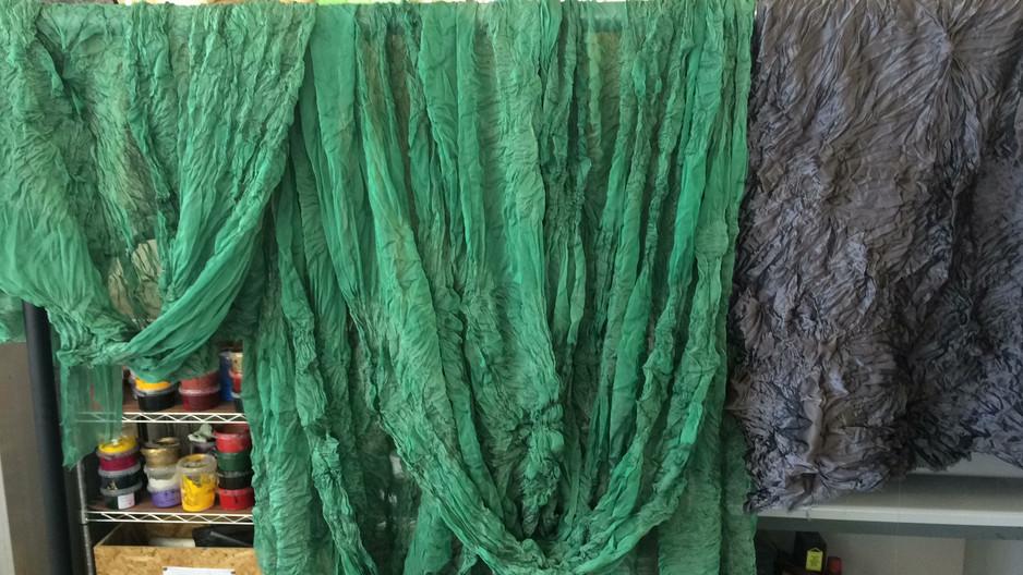 Tie dyed Chiffon & Satin