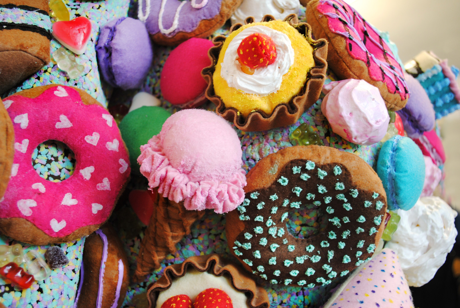 Ice cream cones and doughnuts
