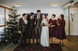 The jolly wedding party