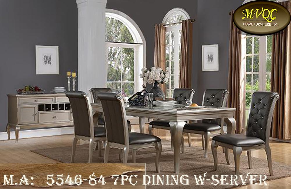 5546-84 7pc dining w-server