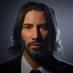 Keanu Reeves Portrait