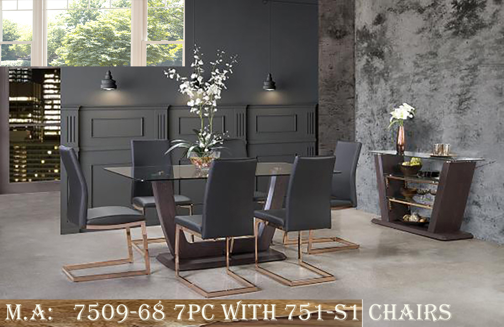 7509-68 7pc with 751-S1 Chairs