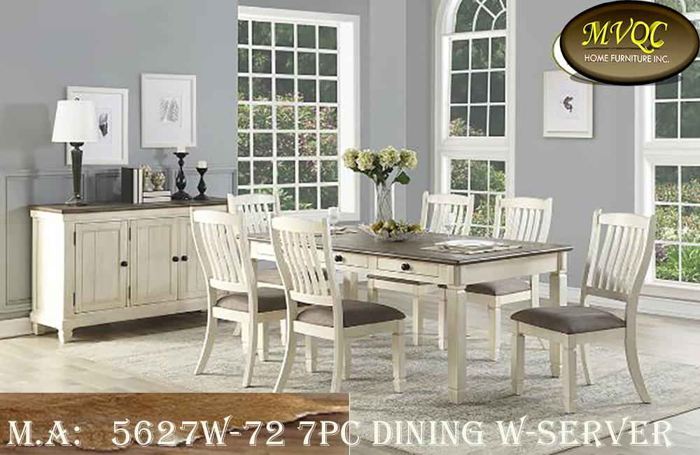 5627W-72 7pc dining w-server
