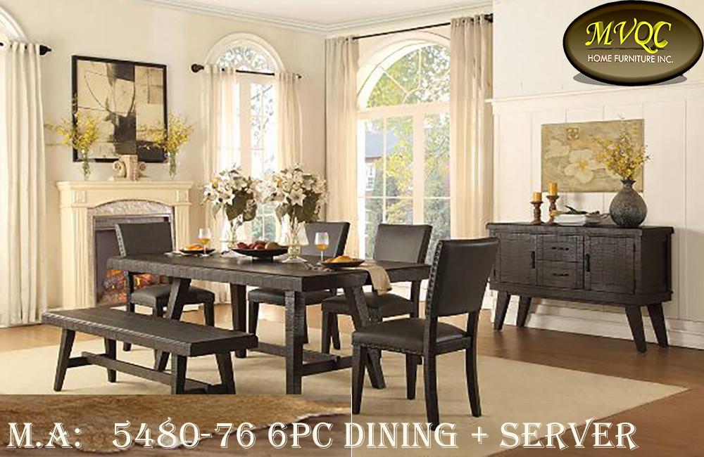 5480-76 6pc dining + server