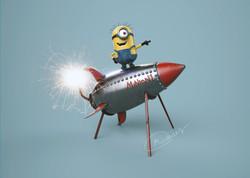 Mickey on a Rocket