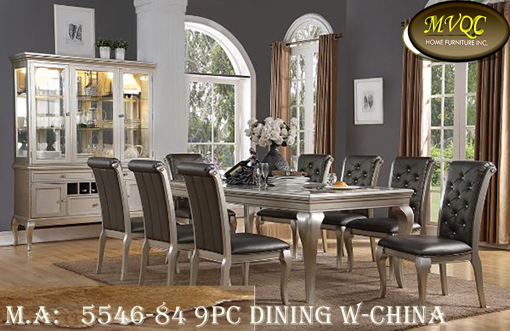 5546-84 9pc dining w-china