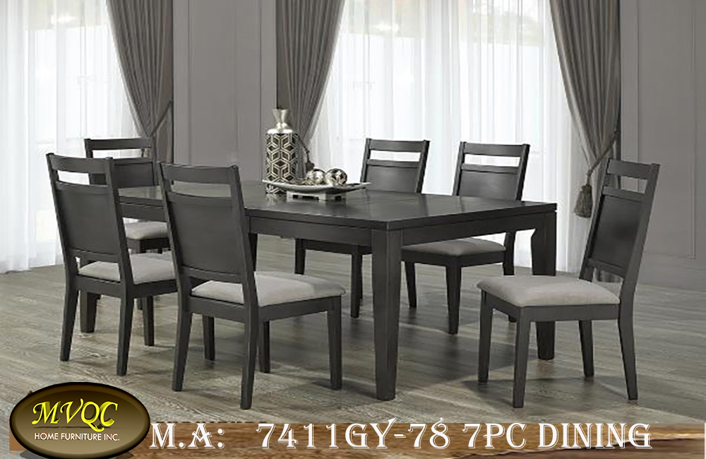 7411GY-78 7pc dining