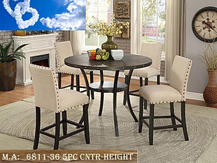 6811 36 5pc Cntr Height