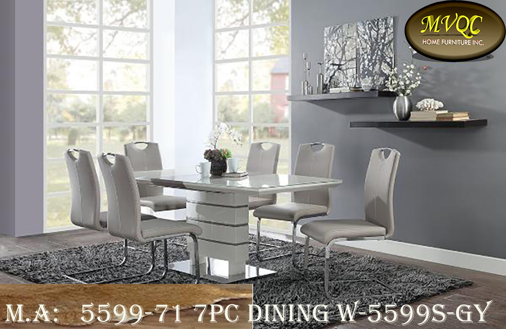 5599-71 7pc dining w-5599S-GY