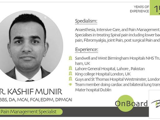 OnBoard | Dr. Kashif Munir | Pain Management Specialist.