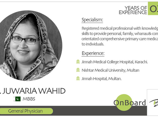 OnBoard | Dr. Juwaria Wahid | General Physician.