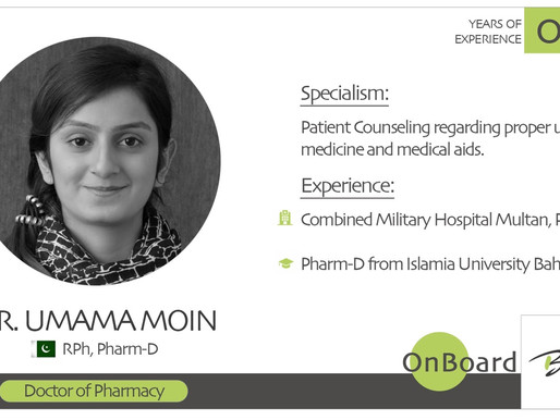 OnBoard | Dr. Umama Moin | Doctor of Pharmacy.