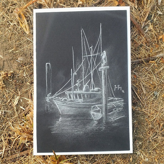 Kits Boat BW