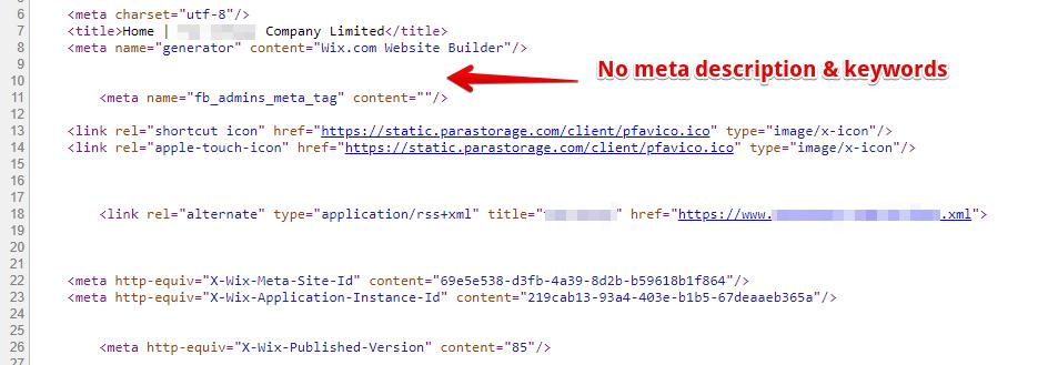 沒有Metadata - wixhk.com