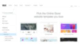 選擇一個Wix網上商店模板