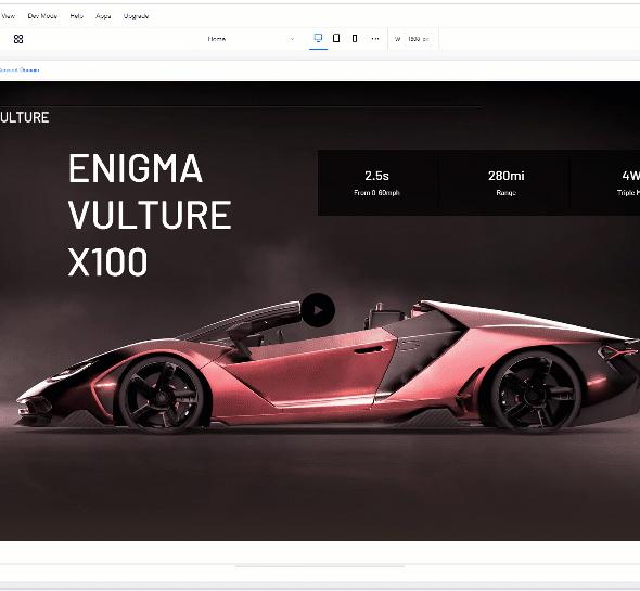 Editor X - 適應跨屏幕設計