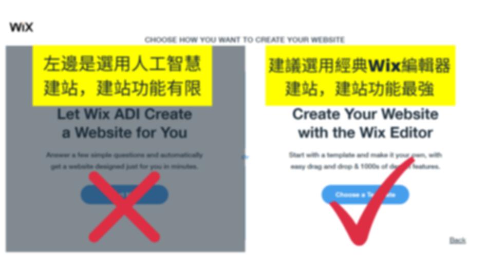 選用Wix編輯器製作網站