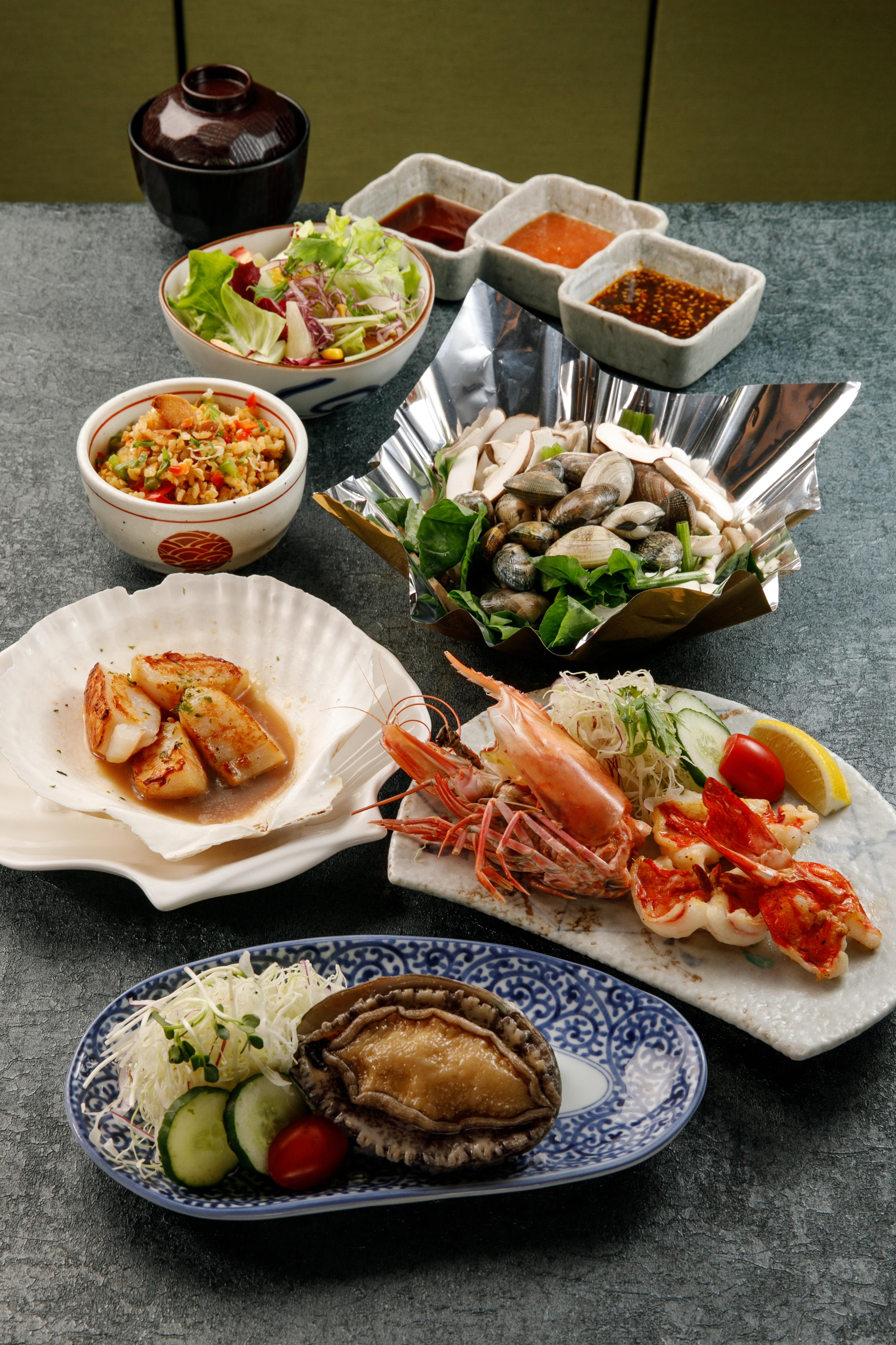 北海道シーフードコース(一人餐)
