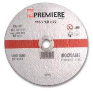 Disco de corte de 115x1mm