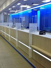 bank teller lighting, citi bank lobby