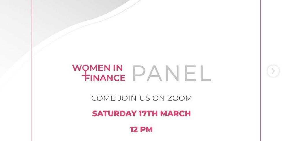 Women in Finance Panel.