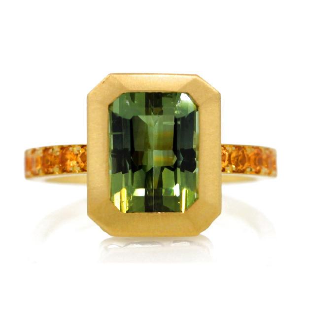 18k Tourmaline Ring