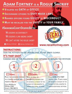 Recall Adam Fortney 8X11 Mailer Complete