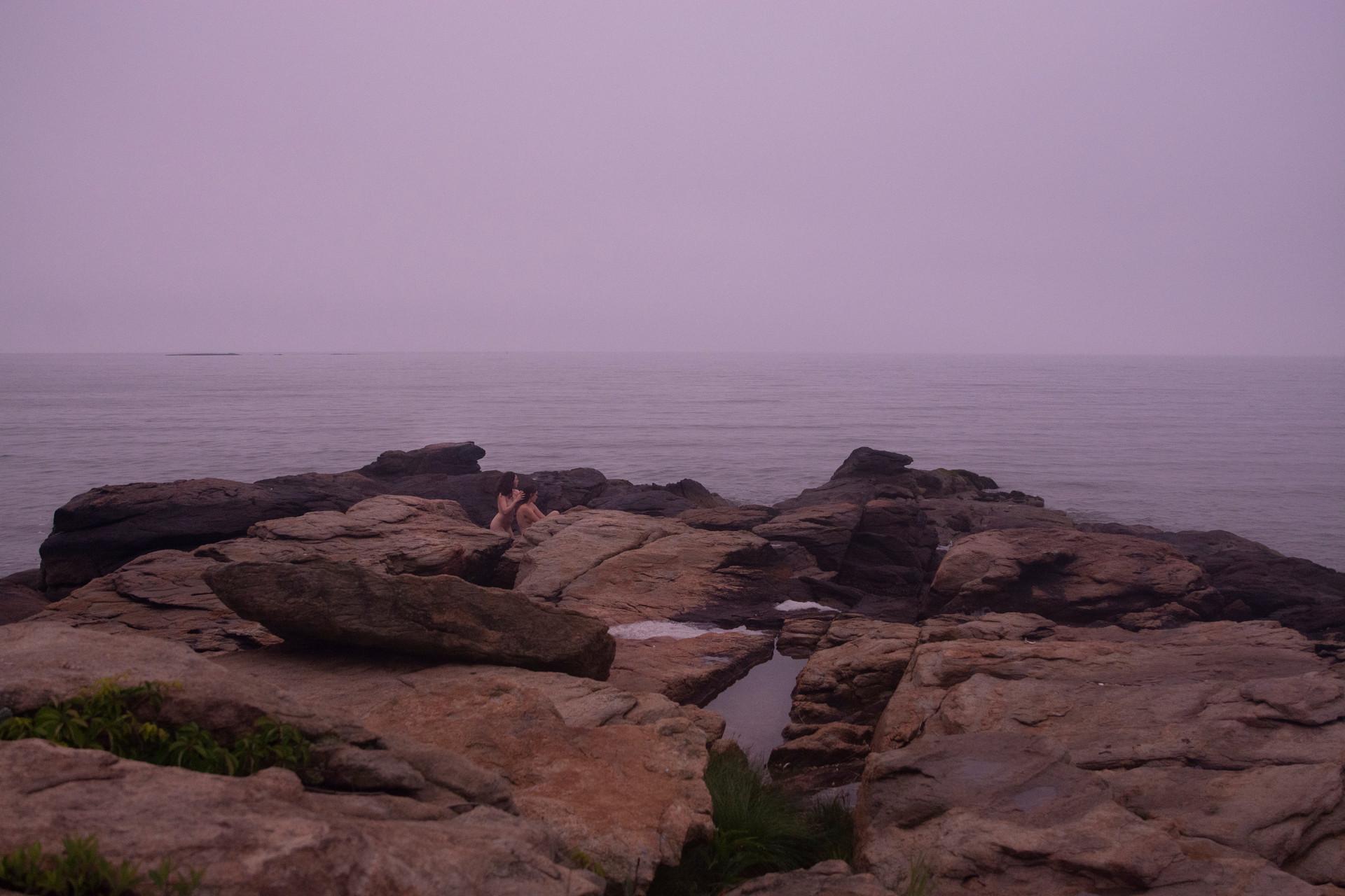 Sisters on Ocean Rocks