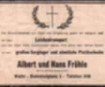 Winfried Fröhle Bestattungen Wehr Froehle