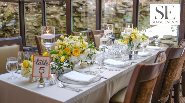 Ericas & Giggs Wedding at Ancaster Mill - Centrepieces 7