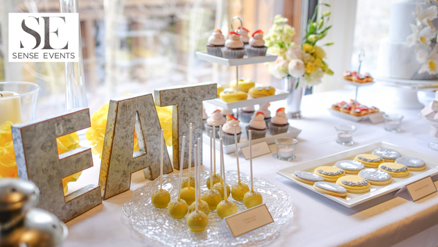 Ericas & Giggs Wedding at Ancaster Mill - Sweet Table