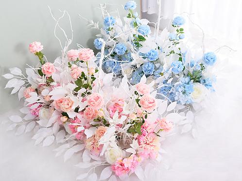 Blush Flower Aisle Decor