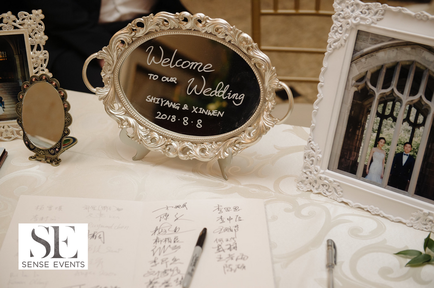 Kelly & Xinwen Wedding @ The Royal Ambassador-Sense Weddings & Events-多伦多婚礼策划-Receiving Table