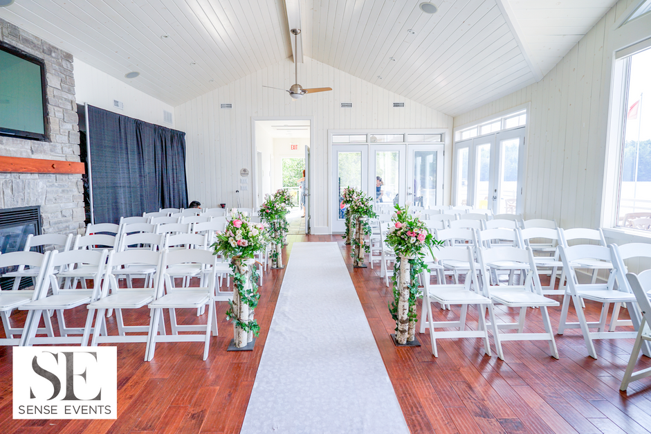 Wan & Michael Wedding -Muskoka Touch Stone Resort-Sense Weddings & Events-多伦多婚礼策划-Ceremony Floral