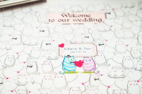Sherry & Edwin Wedding -Avenue Banquet -Sense Weddings & Events-多伦多婚礼策划-Receiving Table 3.jpg