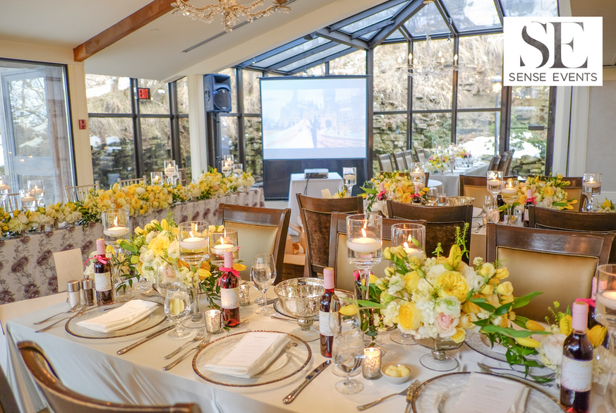 Ericas & Giggs Wedding at Ancaster Mill - Centrepieces 10