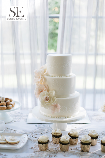 Lotus & Louis Wedding - The Estates of Sunny Brook - Wedding Cake.-Sense Weddings & Events.PNG