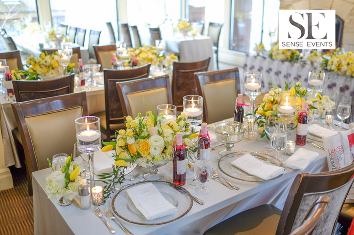 Ericas & Giggs Wedding at Ancaster Mill - Centrepieces 9
